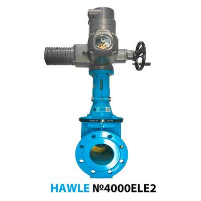 Задвижка с электроприводом Hawle 4000ELE2 Ду100 Ру16 + Auma SA 07.6/16