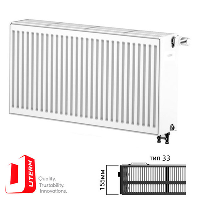 {[ru]:Радиатор стальной Uterm Ventil Compact Тип 33 500x1000 (нижнее подключение)